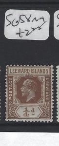 LEEWARD ISLANDS (P2305B)  KGV  1/4 D  SG  58     MOG