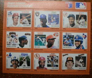 Baseball Stamps - Major League Baseball in Stamps - Grenada - MNH