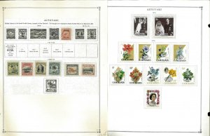 Aitutaki 1903-1988 MNH & LH in Mounts (1 used) on Scott International Pages