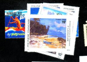 FRENCH POLYNESIA #648-52 656 MINT VF OG LH Cat $19