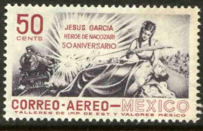 MEXICO C242, 50th Anniv death of Jesus Garcia railroad HERO. MINT, NH. F-VF.