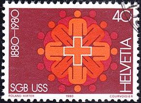 Switzerland # 692 used ~ 40¢ Swiss Trade Union Fed. Centenary