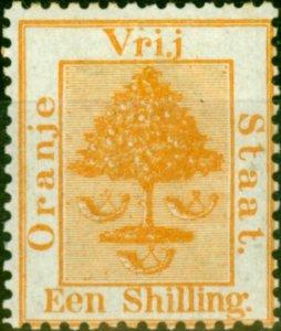 Orange Free State 1868 1s Orange-Yellow SG9 Fine Mtd Mint