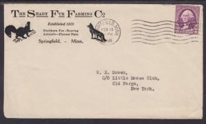 US Sc 720 on 1936 Fur Farming Advertising Cover, Mink & Fox