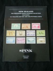 SPINK AUCTION CATALOGUE 2016 NEW ZEALAND 'DIAMOND' COLLECTION