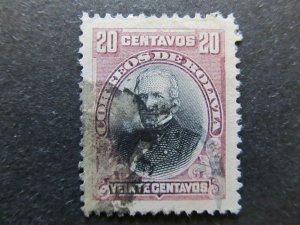 A4P31F122 Bolivia 1901-02 20c used