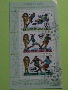 KOREA STAMP 1993SC# 3214a THE WORLD FOOTBALL CHAMPIONSHIP -CTO-MNH S/S SHEET