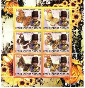 Djibouti 2007 Butterflies/Lord Baden-Powell Scouts Shlt(6)