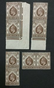 MOMEN: HONG KONG SG #91 MULT CROWN CA MINT OG NH LOT #198914-6359