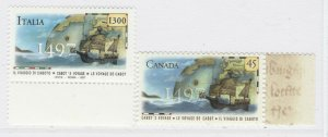 1997 Canada Italy Joint Issue MNH** 2 Values A20P5F208