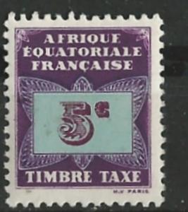 French Equatorial Africa # J1  Postage Due - Butterfly 5c (1) Unused VF