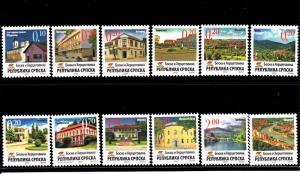 Bosnia and Herzegovina Serb Admin MNH Scott #298-#309 Set of 12 different Cit...