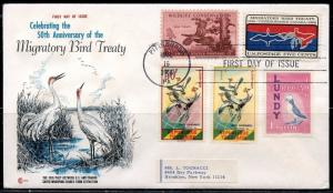 UNITED STATES 1966 MIGRATORY BIRDS  FANTASTIC COMBINATION  FIRST DAY COVER