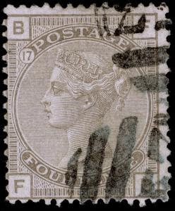 SG154, 4d grey-brown PLATE 17, FINE USED. Cat £325. FB. E53 PORT-AU-PRINCE