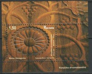 Bosnia and Herzegovina 2015 Woodcarving MNH Block
