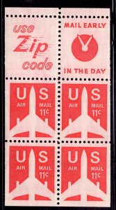 US Stamp #C78 Booklet Pane of 4 MINT NH SCV $1.25
