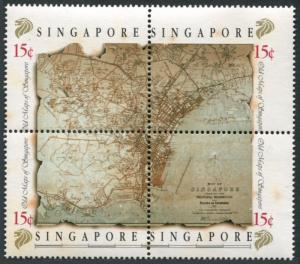Singapore 545ad-547,MNH.Michel 573-578. Early 19th century maps,1989.