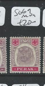 MALAYA PERAK (PP1105B) TIGER 4C  SG 69  MOG