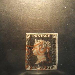 GB #1 penny black