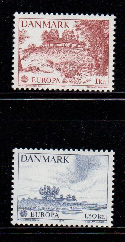 Denmark Sc 600-1 1977 Europa stamp set mint NH