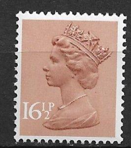 1976 Great Britain Machins #MH95 Queen Elizabeth 16½p MNH