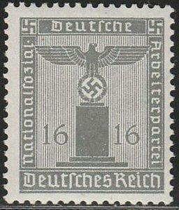 Stamp Germany Official Mi 151 Sc S8 1938 WWII Dienst War Era Franchise MNH