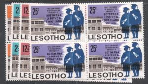 Lesotho SC 137-40 Blocks of Four MNH (2dmu)