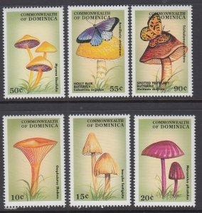 Dominica 2044-2049 Mushrooms MNH VF
