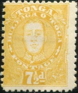 Tonga 1895 SG35 7½d orange-yellow King George II MH
