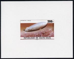 Upper Volta 1976 Zeppelin Airships 200f imperf deluxe pro...