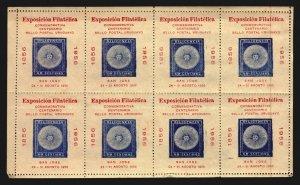 Exposition poster stamp cinderella sun stamp on stamp Uruguay full sheet MNH