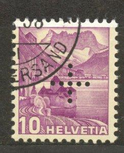 Switzerland, 1937 Officials 10 Cts. VF ++ used, smooth paper, Zumstein 21 y