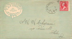 United States Connecticut New Britain 1894 Wesson duplex Type B  Green overal...