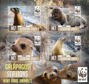 Stamps. Fauna WWF Set 2 sheet perforated Sia Leons