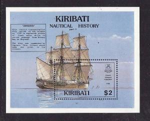 Kiribati-Sc#561-Unused NH sheet-Sailing Ships-1990-
