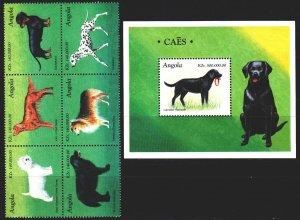 Angola. 1998. 1204-9, bl43. Dogs. MNH.