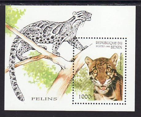Benin Wild Cat 847 Souvenir Sheet MNH VF