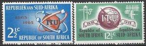 South Africa 306-7  MNH  UN ITU Centenary