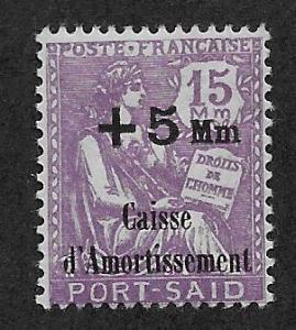 FRENCH OFFICES - PORT SAID SC# B3  AVF/MOG 1928