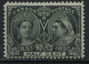 Canada 1897 1/2 cent Jubilee unmounted mint NH fine