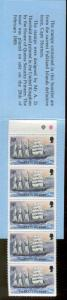 FALKLAND ISLANDS 490, 496 MNH SHIPS BOOKLET PANE