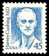 PCBstamps  US #2188 45c Dr. Harvey Cushing, bright blue, MNH, (4)