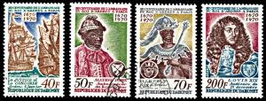 Dahomey 271-274, CTO, 300th Anniversary Mission of King of Ardres to France