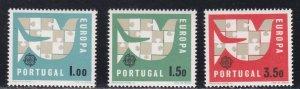 Portugal # 916-918, Europa, LH, 1/3 Cat.