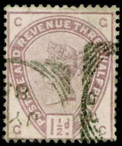 SG188, 1½d lilac, USED. Cat £42. GC