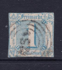 Thurn & Taxis (Germany) a used imperf 1s  (SG 14)
