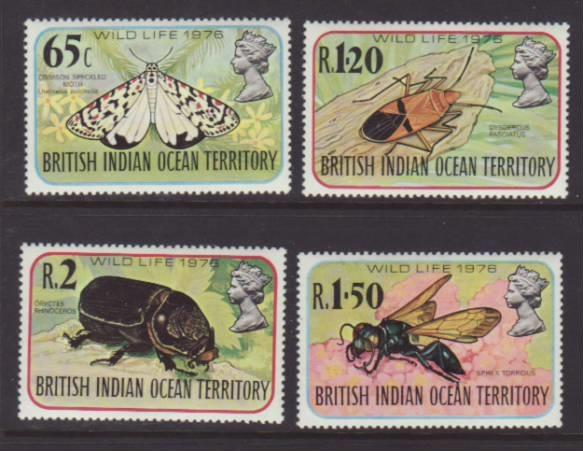 British Indian Ocean Territory Insects 86-89 MNH VF