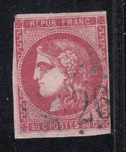 France Scott 48 Used fine (small thin) - Catalog Value $250.00