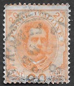 Italy Scott #69 20c King Humbert I (1895) Used