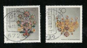 Jewelry, Deutsche Bundespost, 50 and 80 Pfg. (R-545)